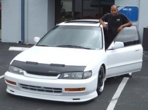 Matt Paskins with his 95 Honda wagon