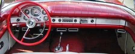 Ford Thunderbird Driver Louver on 1957 Thunderbird Dash