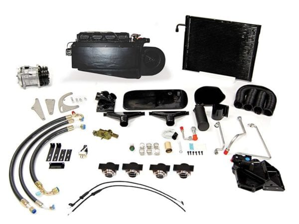 1949 CHEVROLET PICKUP TRUCK AC COMPLETE SYSTEM with Perfect Fit Kit products laid out