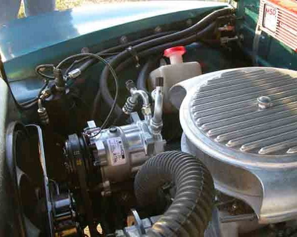 1955 CHEVROLET PICKUP TRUCK COMPRESSOR with perfect fit kit installed
