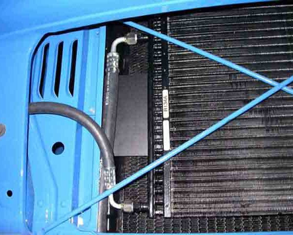 1957 CHEVROLET blue PICKUP TRUCK close up of perfect fit kit CONDENSER TUBES
