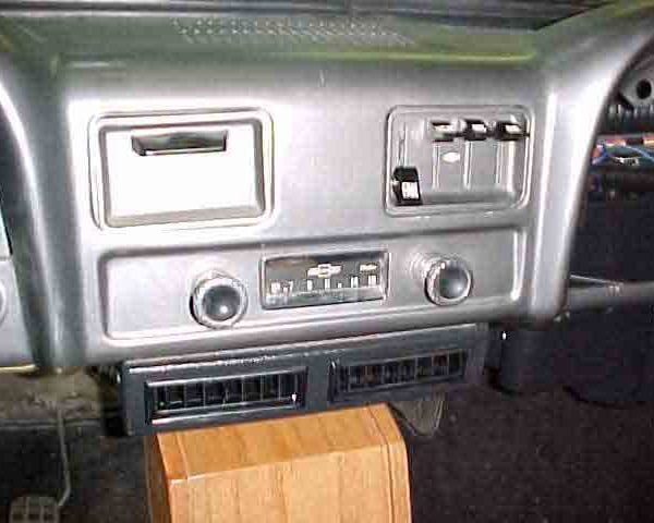 1961 CHEVROLET PICKUP TRUCK DASH with Perfect Fit Kit installed