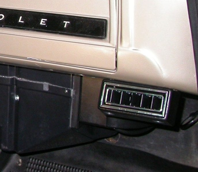 Chevrolet Panel Delivery Truck Passenger Vents