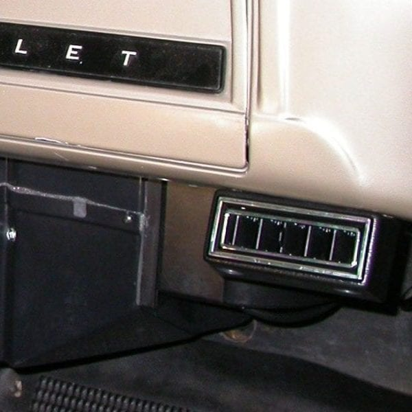1966 CHEVROLET PICKUP TRUCK close up of PASSENGER VENTS with perfect fit kit installed