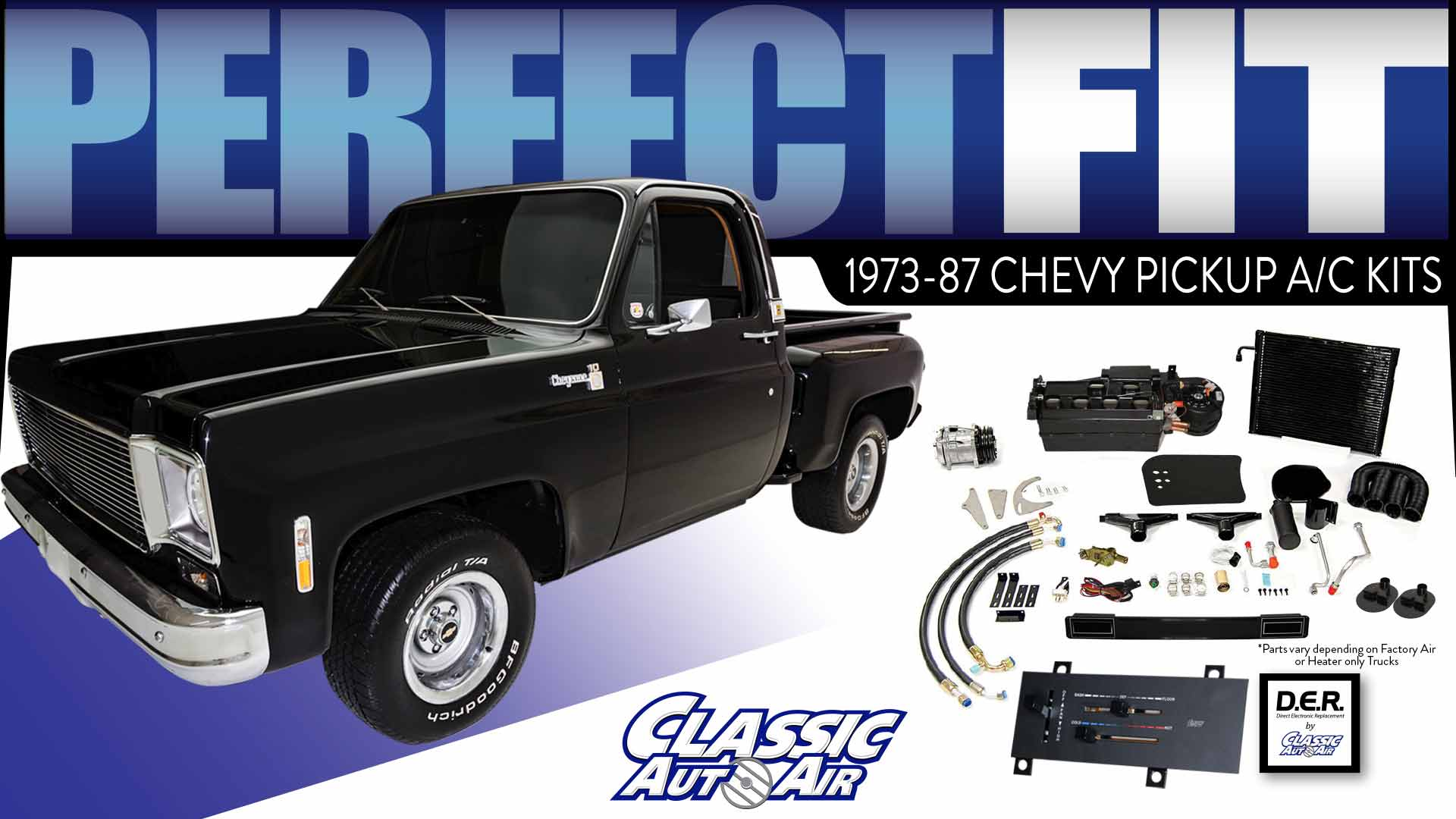 1973 1987 Chevy Pickup Trucks Air Conditioning Kits