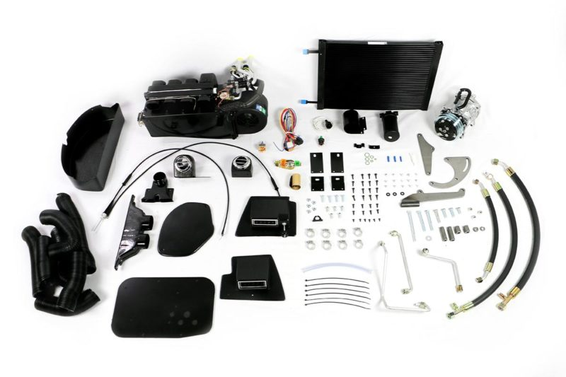 1963 to 1967 Chevy Corvette Air Conditioning System Kit that contains what you'll need to get modern day, high performance A/C, heat, and dehumidified defrost into your classic